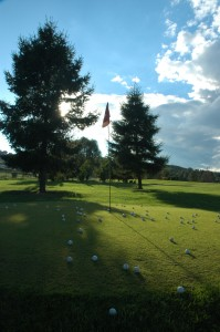 Golf Flag on Driving Range