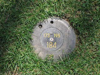 Golf sprinkler head yardage marker DanPerry.com on Flickr